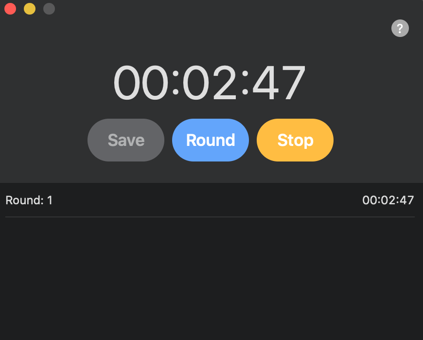 Tempus – Stopwatch for Mac / macOS